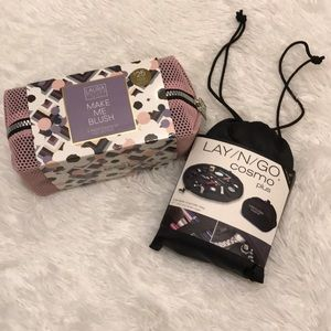 Laura Gellar collection Lay and Go cosmetic bag